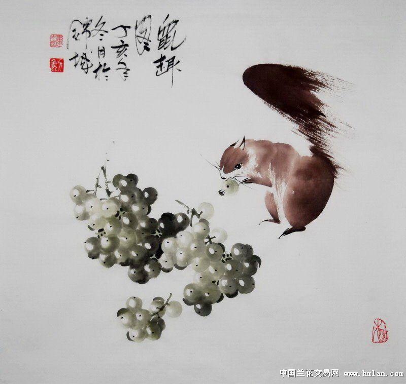 吴昌硕的兰花好在整体