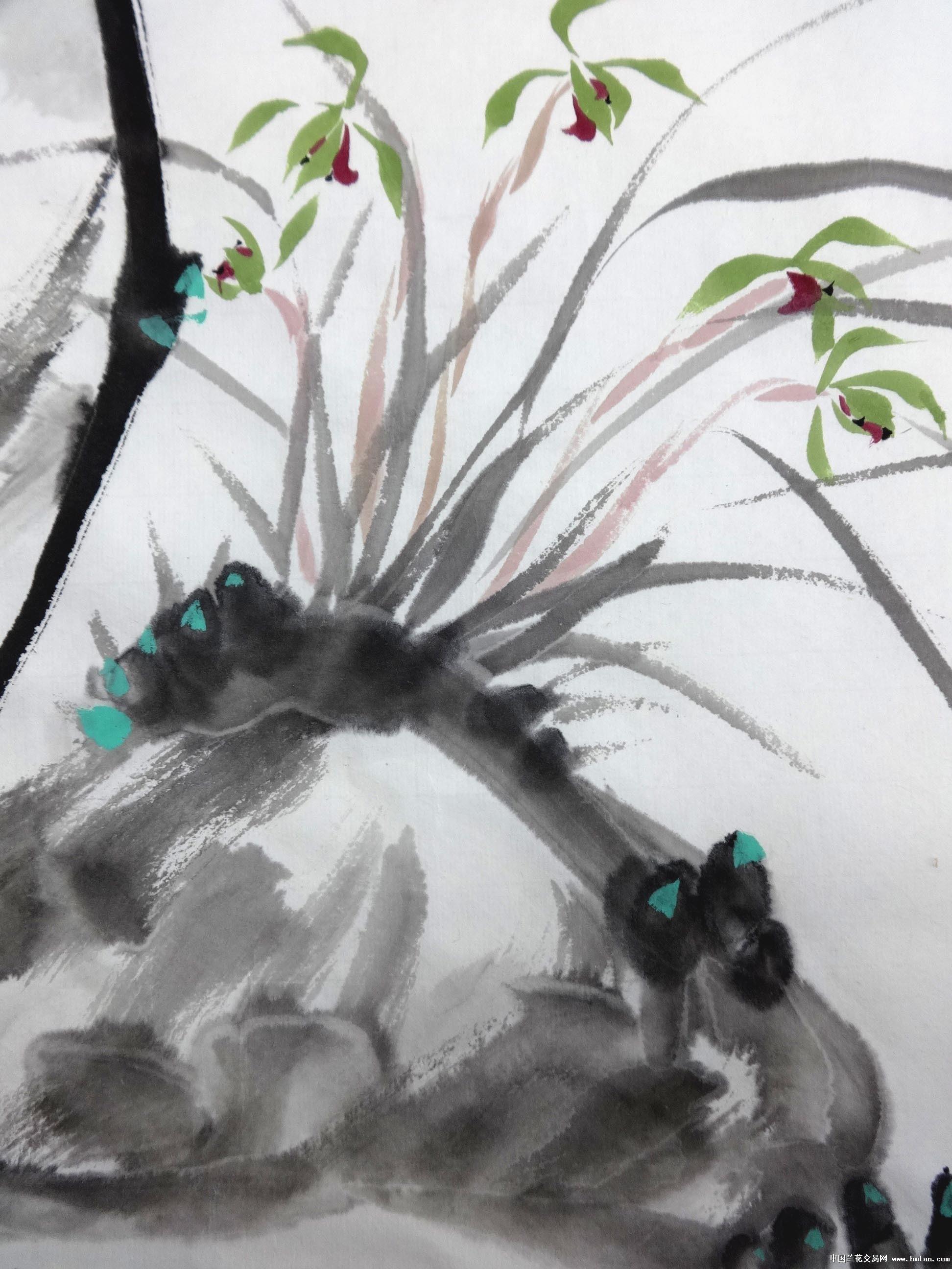 国画 兰花写意-幽谷兰香