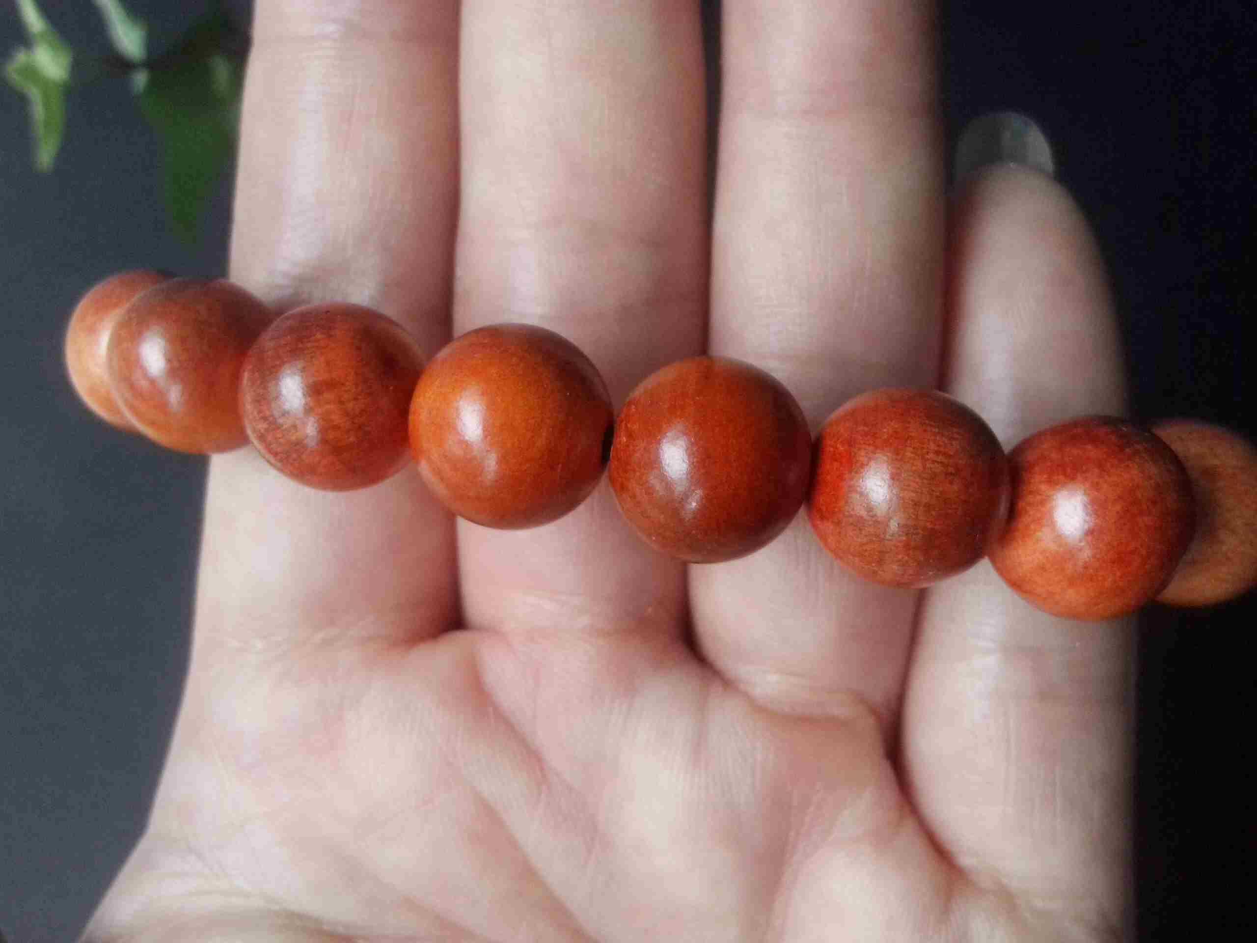 血龙木手链珠径1.2厘米